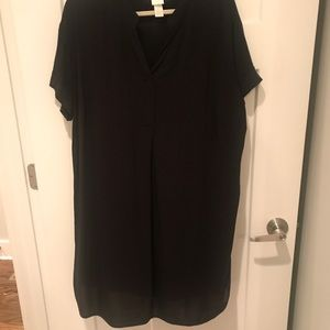 H&M Black shift dress